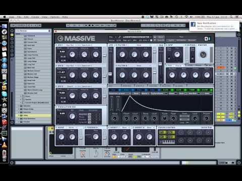 How To Make Skrillex Laser Sounds in Massive (preset included)