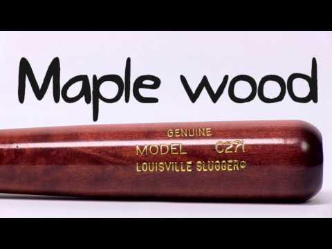 Louisville Slugger M9 Maple Wood Bat: M9C271BHC Adult