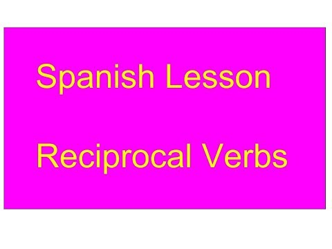 Reciprocal Reflexives - Spanish Lesson