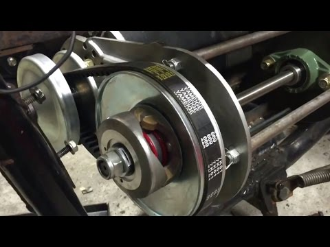 CVT Electric Motor test fit in E-Motorcycle