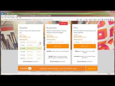 Tutorial 001 - Create GoDaddy WordPress Site from Scratch