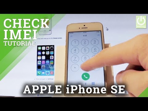 How to Check IMEI in APPLE iPhone SE - IMEI Info / Serial Number