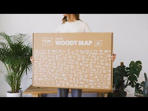 Woody Map Natural - Cork Worldmap