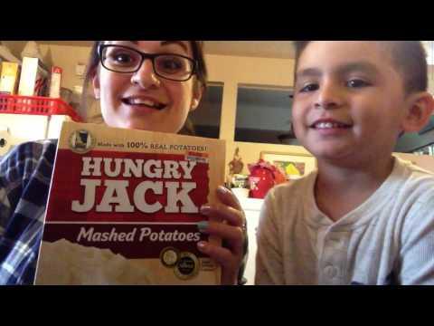 Jackson & Mommy's Hungry Jack Mashed Potato Tutorial 🤓👦🏻