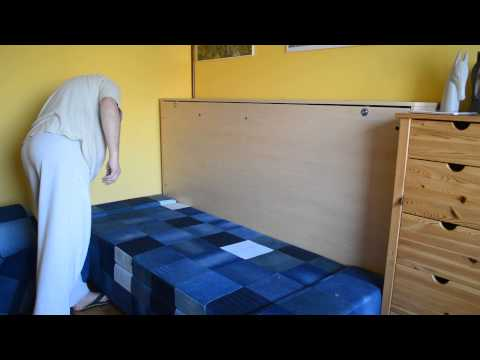 A DIY foldaway bed , Murphy bed- build a wallbed with simple tools half price