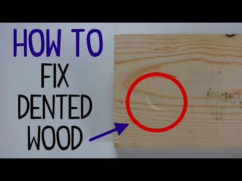 How to Fix Dented Wood