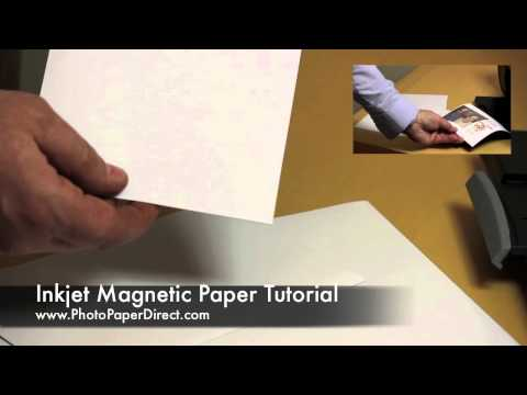 Inkjet Magnetic Paper Tutorial By Photo Paper Direct