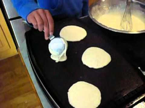 Homemade frozen pancakes