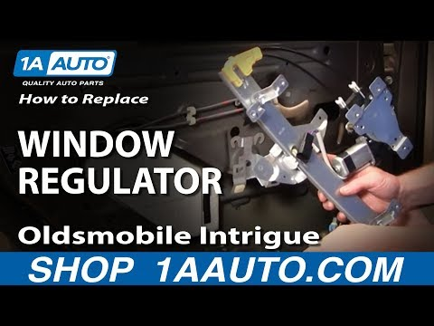 How to Install Replace Rear Power Window Regulator Oldsmobile Intrigue 98-02 1AAuto.com