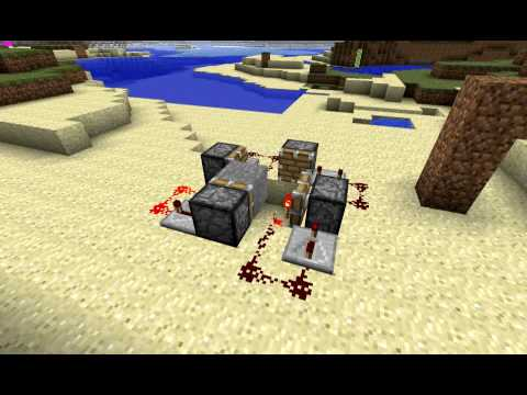 MINECRAFT Redstone Repeater Clock with pistons.