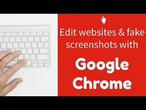 Edit websites and make fake screenshots with Google Chrome