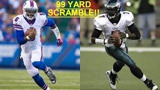 Who Can Get A 99 Yard Qb Scramble First Tyrod Taylor Vs Michael Vick