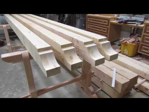 how to cut a 4x6 decorative rafter tail for Pavilion
