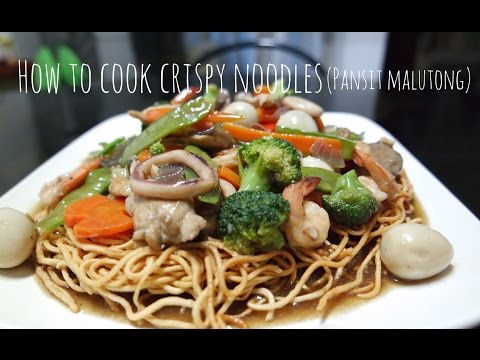 How to Cook Crispy Noodles (Pansit Malutong)