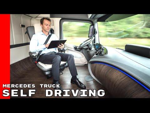 Mercedes Benz Self Driving Autonomous Semi Truck