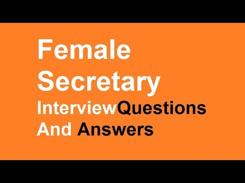 Female Secretary interview questions And Answers