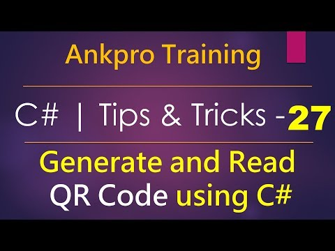 C# tips and tricks 27 - How to generate and Read QR Code using ZXing.Net library in c#