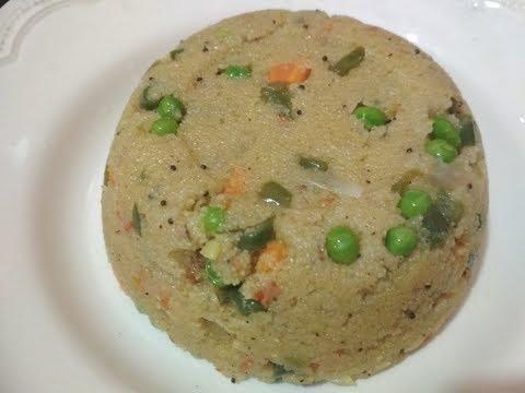 Vegetable masala upma recipe in Kannada/Upittu Recipe with English subtitles