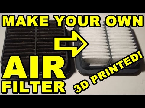 3D Printed Car Parts: Making An Air Filter - Daihatsu Cuore Avanzato TR-XX R4 Project Episode 8