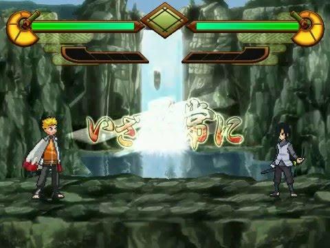 Naruto MUGEN- Adult Sasuke vs  Hokage Naruto - PlayItHub Largest