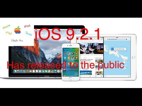 iOS 9.2.1 Officially Released To The Public ,How to Downgrade iOS 9.2.1 To iOS 9.2 {NO LONGER WORKS}