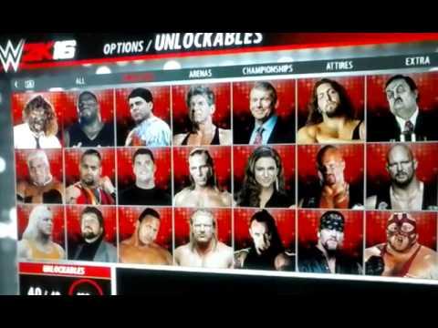 WWE 2k16 Unlockables