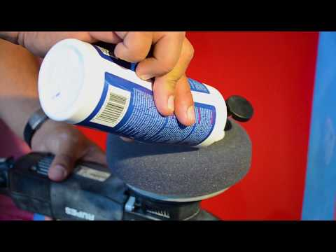 How to buff and wax Gelcoat medium oxidation