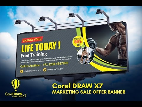 corel Draw #7 | Billboard and hoarding banner design | Flex banner design | membaut spanduat