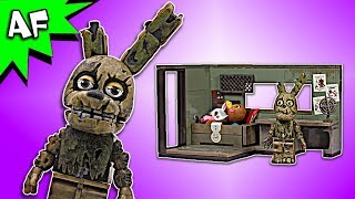 Five Nights at Freddy's SECURITY OFFICE Speed Build - FNAF McFarlane Toys LEGO compatible set