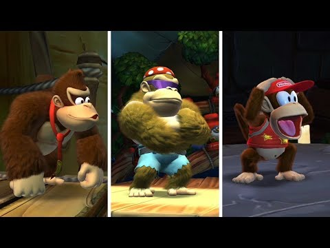 Donkey Kong Country Tropical Freeze - All KONG Reactions to All Bosses