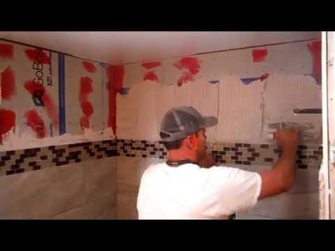 Installing Porcelain Wall Tile on Go Board Tile Backer Board