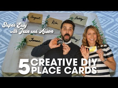 5 Creative DIY Place Cards