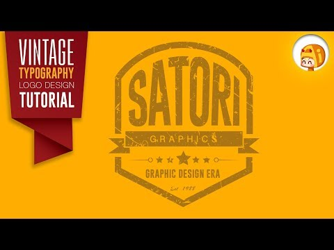 Vintage Logo Design | Adobe Illustrator Vintage Typography Logo Design Tutorial | Satori Graphics