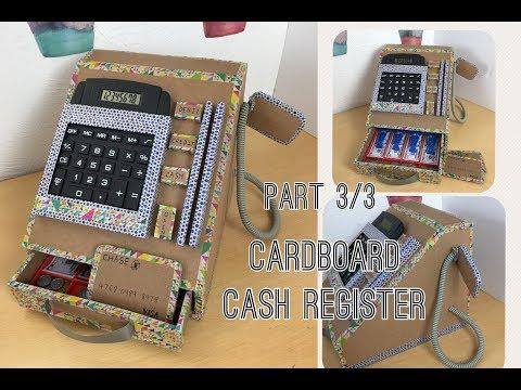 Cardboard cash register  Part 3/3