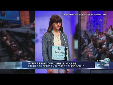 Kailua girl competes in Scripps National Spelling Bee