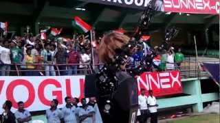 Robot signals as Dhoni hits a six - HIGHLIGHTS India vs England ODI  Jan 2013