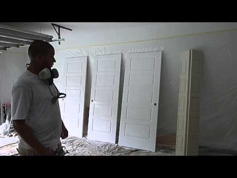 How to Paint Closet Doors using Graco Ultra 395 paint sprayer -Treasure Coast Florida