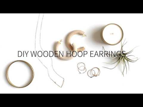 DIY Wooden Hoop Earrings