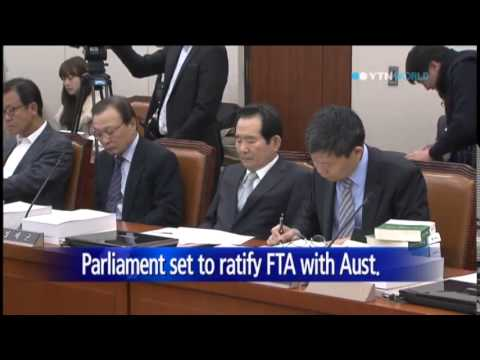 Parliament committee passes bills on FTAs with Aust., Canada / YTN