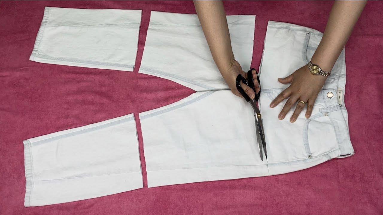 안 입는 흰 바지가 명품으로 변신합니다.  | 그냥 보시죠. 놀라울 따름입니다.