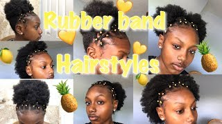 Last Minute Valentine S Day Hairstyle Rubber Band Method On
