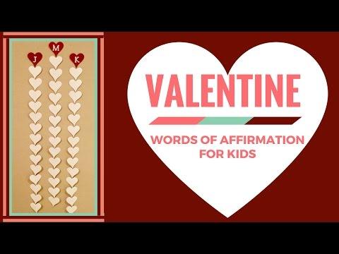 Valentine Hearts (Words of Affirmation for Kids)