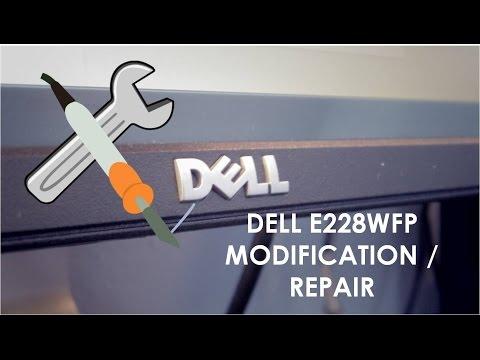 Dell E228WFP Computer Monitor Modification / Repair (Black Screen)