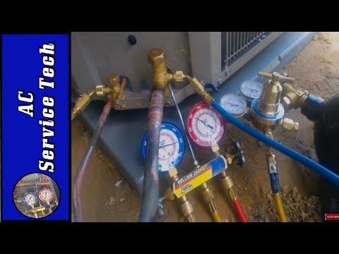 HVAC Pressure Testing a Refrigerant Line with Nitrogen!