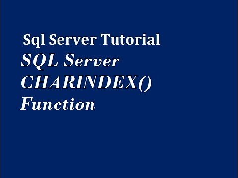 CHARINDEX Function in SQL Server