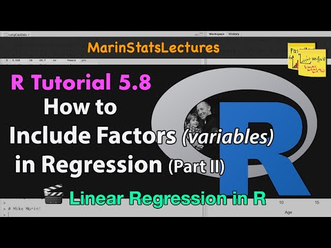 Categorical Variables in Linear Regression in R, Example #2 (R Tutorial 5.8)