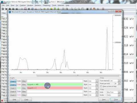 Using Wireshark IO Graphs