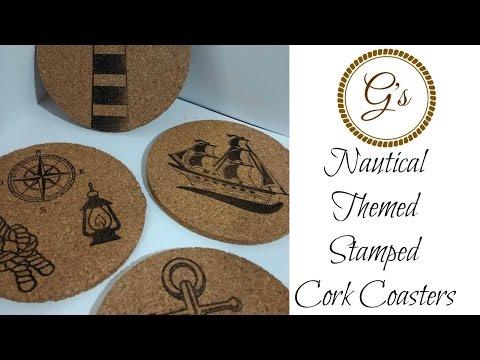 Stamped Nautical Cork Coaster Tutorial/DIY