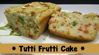 Eggless Tutti Frutti Cake Recipe In Hindi