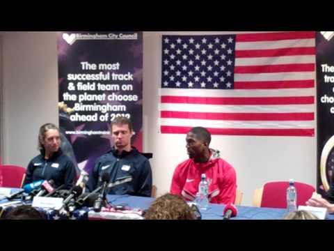 USA Olympians press conference at Alexander Stadium, Birmingham, England